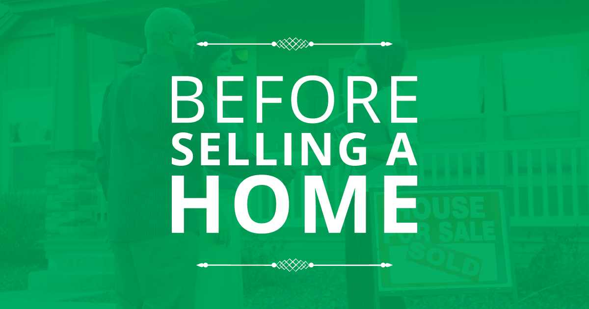 Tasks Before Selling A Home